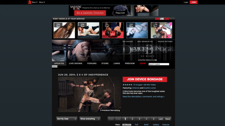 DeviceBondage_Homepage_screenshoot